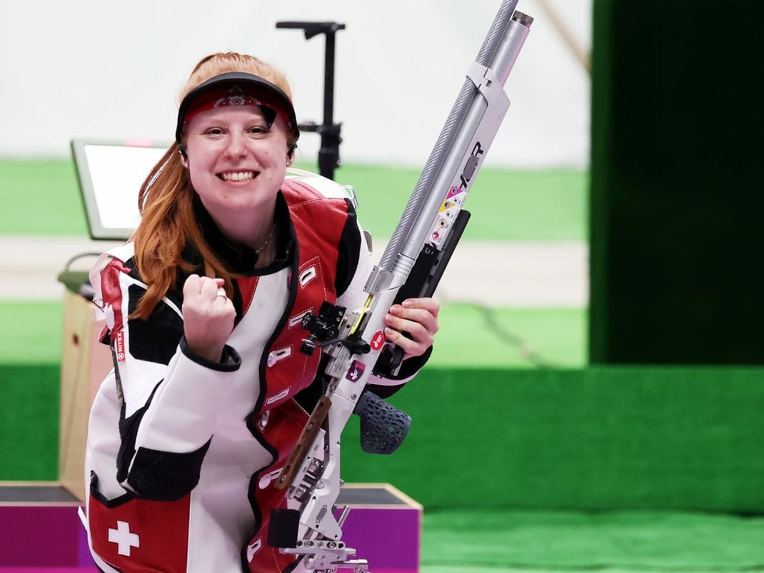 Nina Christen gewinnt Bronze; Bild: Keystone