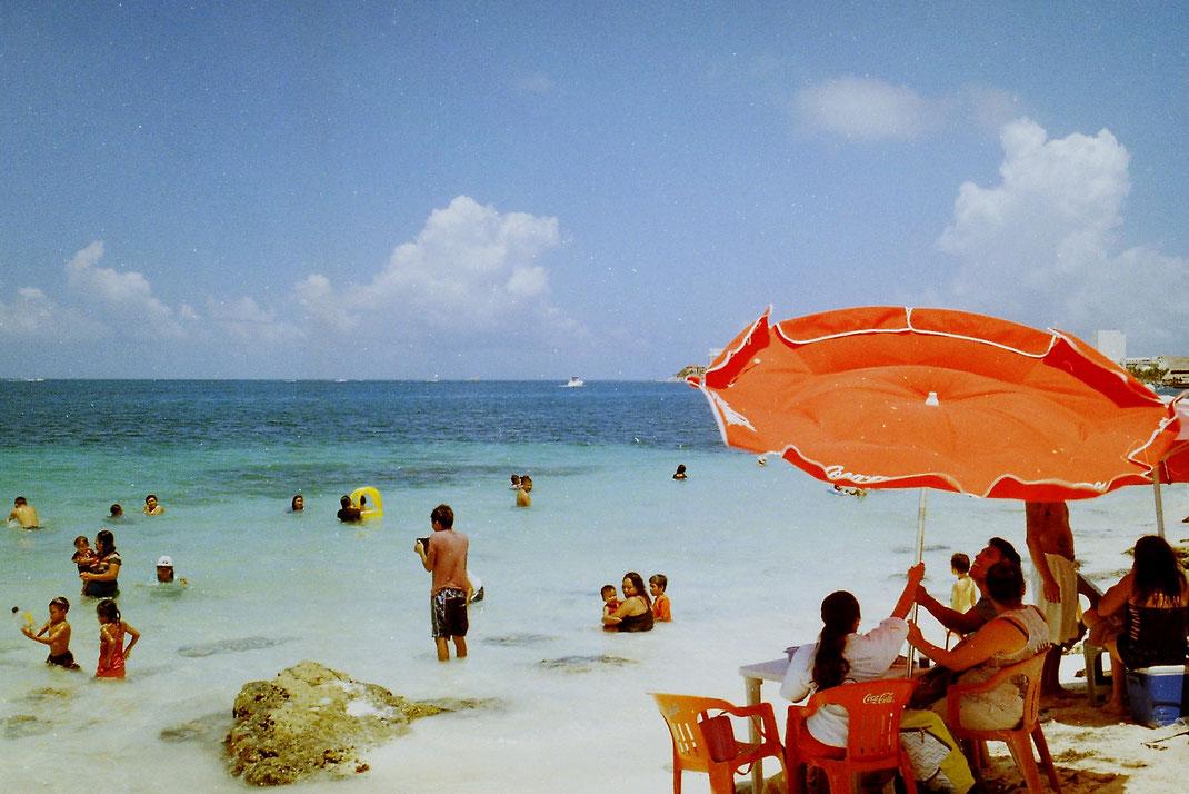 cancun,beach,tropical,caribe,mexico,yucatan,analog,film