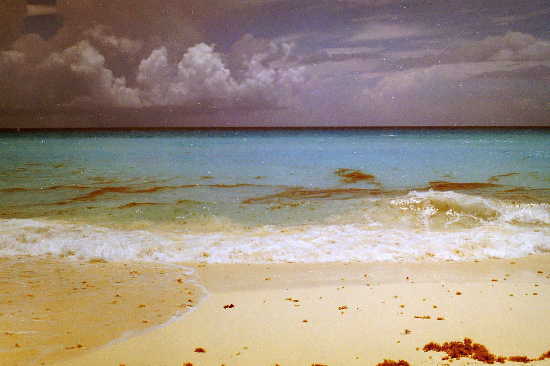 cancun,beach,tropical,caribe,mexico,yucatan,analog,film