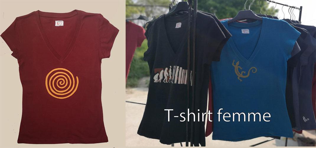 Sambalou 100% coton biologique 200 % couleur,  livraison gratuite dès 3 t-shirts , collection t-shirt femme , e-shop t-shirt femme , collection original et colorée , 100% organic , photo accueil site sambalou