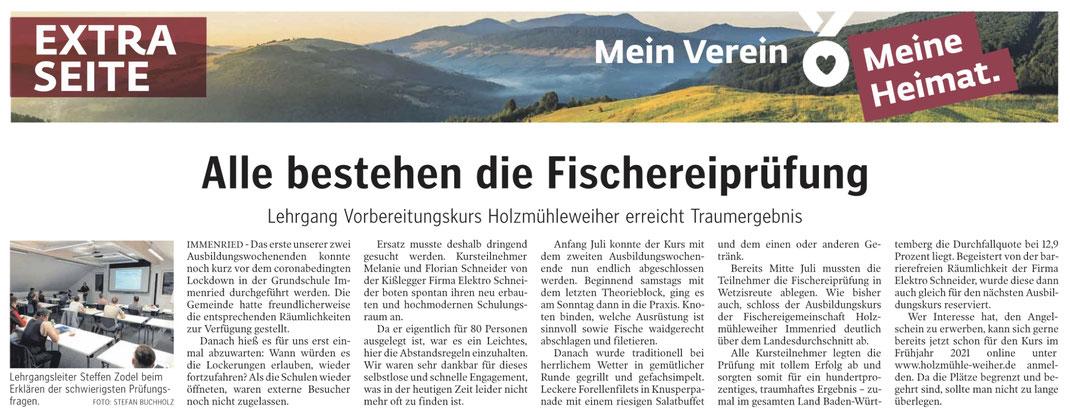 Schwäbische Zeitung vom 20.08.2020