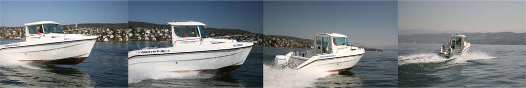 Einfach zu handhaben: Schulschiff von diebootsschule.ch mit beheizter Kabine. Bilder: diebootsschule.ch