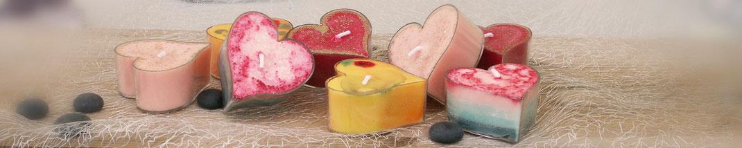 Lichtgarten Licht-Garten Kerzen Teelichter Jumboteelichter Jumbo-Teelichter Simone Fischer  Herzen Kerzen