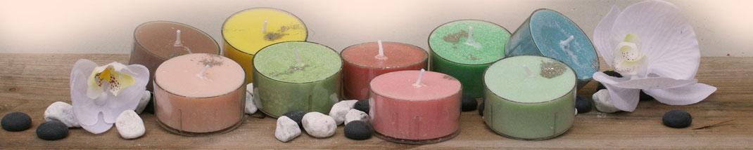Lichtgarten Licht-Garten Kerzen Teelichter Jumboteelichter Jumbo-Teelichter Simone Fischer Feng Shui