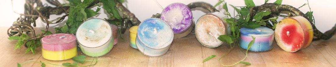 Lichtgarten Licht-Garten Kerzen Teelichter Simone Fischer Persönliche Kerzen Jumboteelichter Jumbo-Teelichter