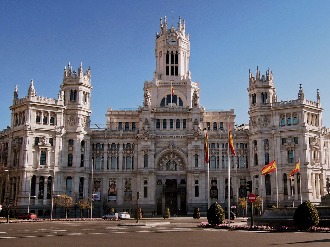 The Cibeles Palace on Plaza de Cibeles