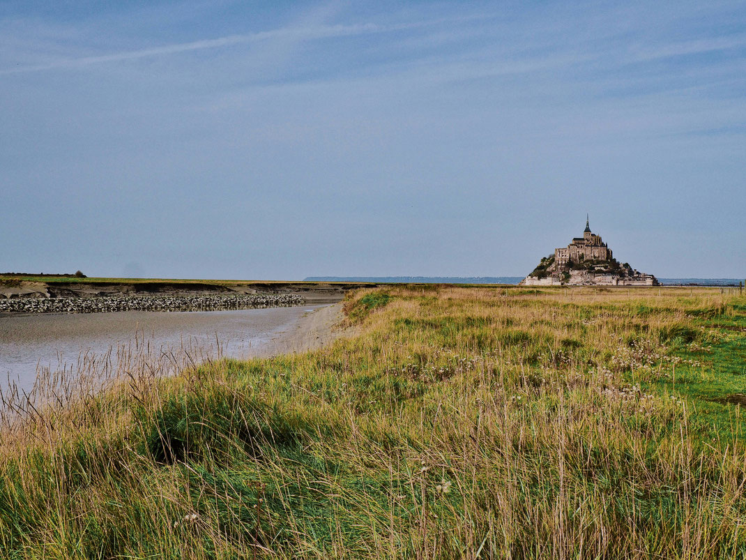 View of Mont-Saint-Michel from afar