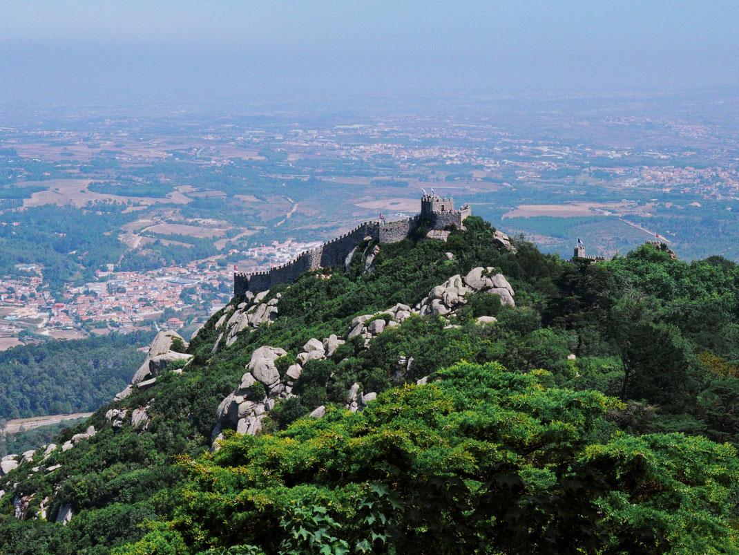 View of the Moorish Castle from the Palacio da Pena