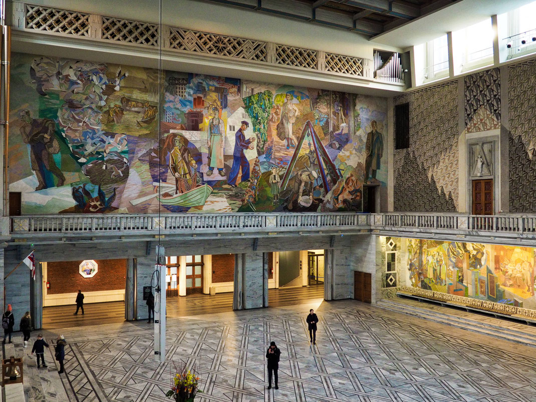 Henrik Sørensen, City Hall, Art, Fresco