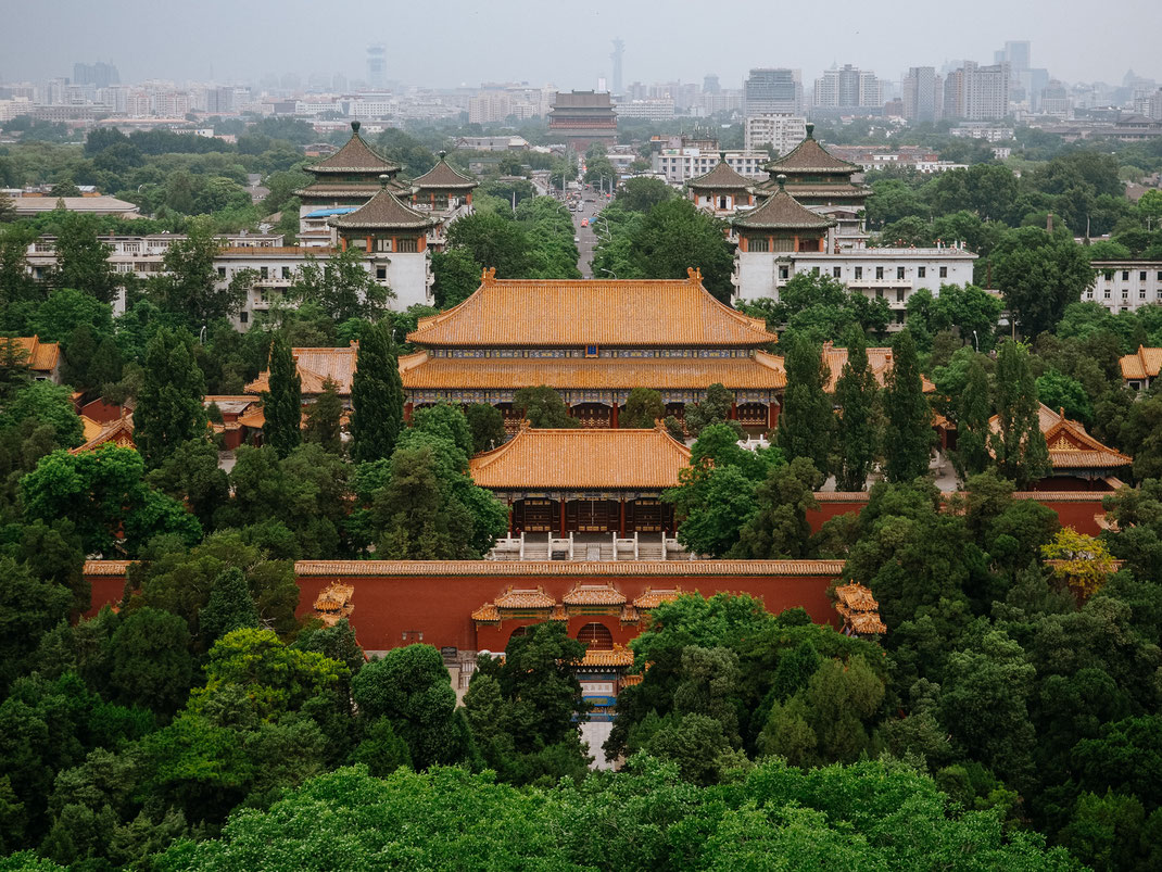 Nice view from the hill of the Jingshan Park