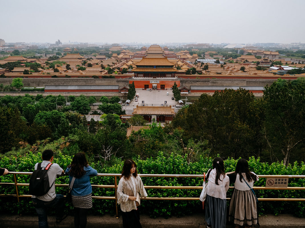 View on the Forbidden City from the Jingshan Park