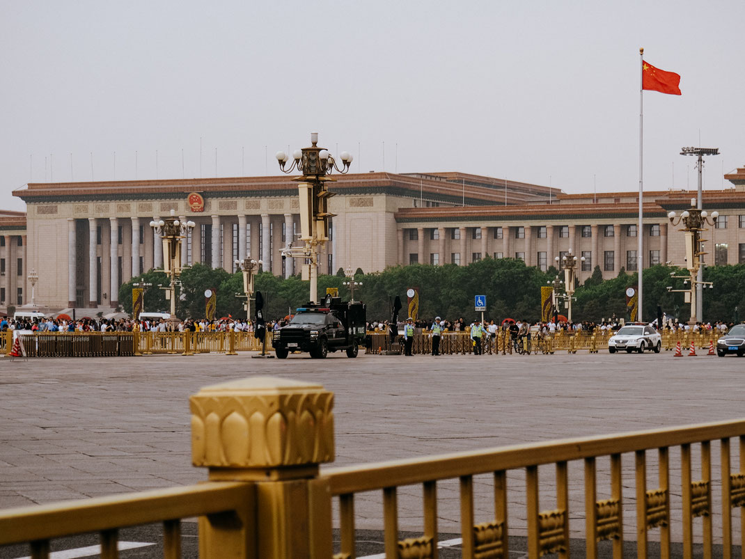 The Great Hall of the People on Tiananmen Square