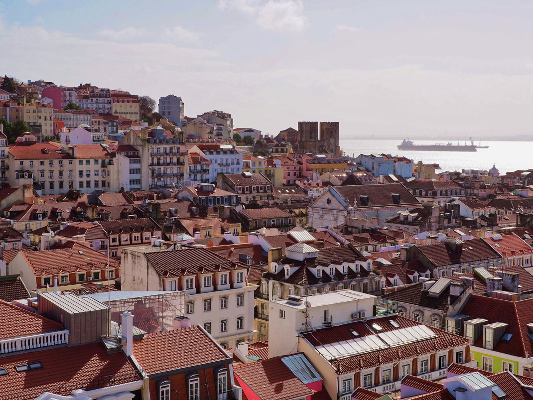 Amazing view of Lisbon from the Elevador de Santa Justa
