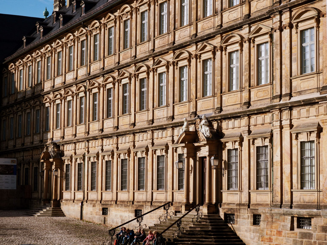 The beautiful facade of the Neue Residenz