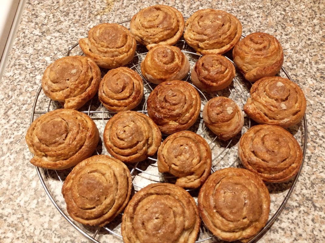 Zimtschnecken; selbst gebacken; Sauerteig; Ceylon Zimt