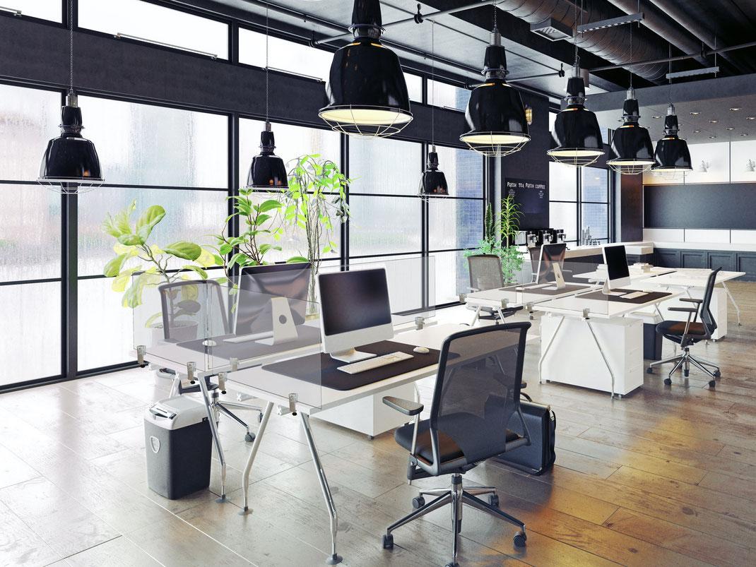 Trennwandsysteme, Plexiglas, Spuckschutz, Trennwand, Trennwände, Büro
