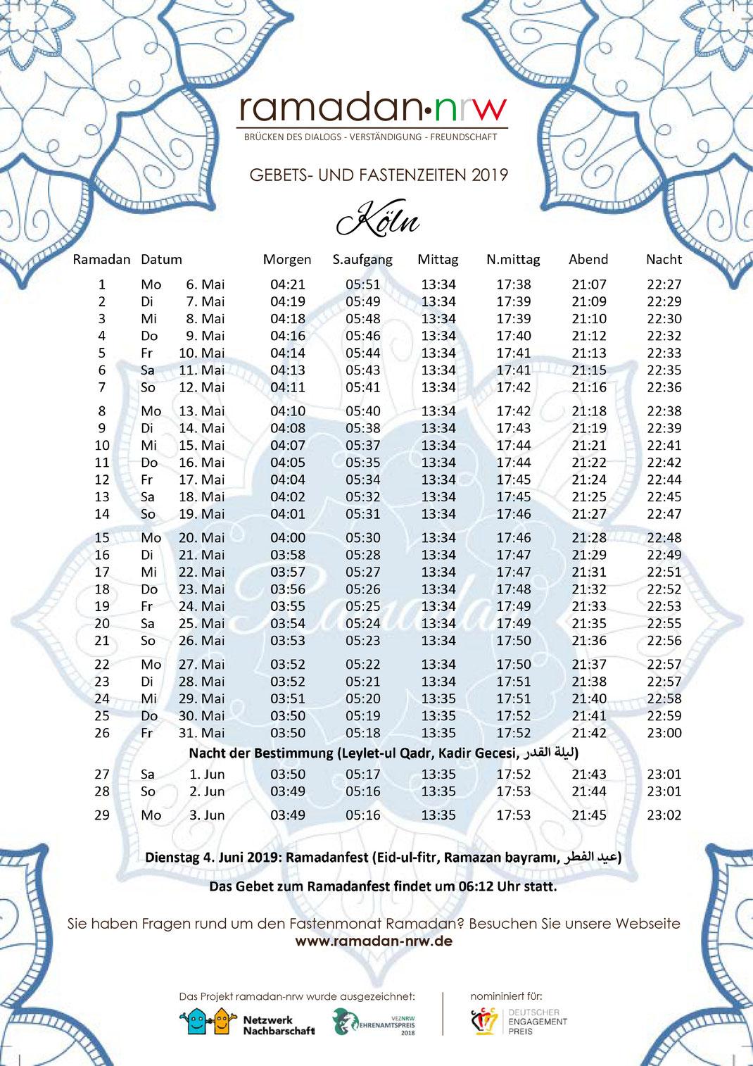 Wie lange geht ramadan 2019