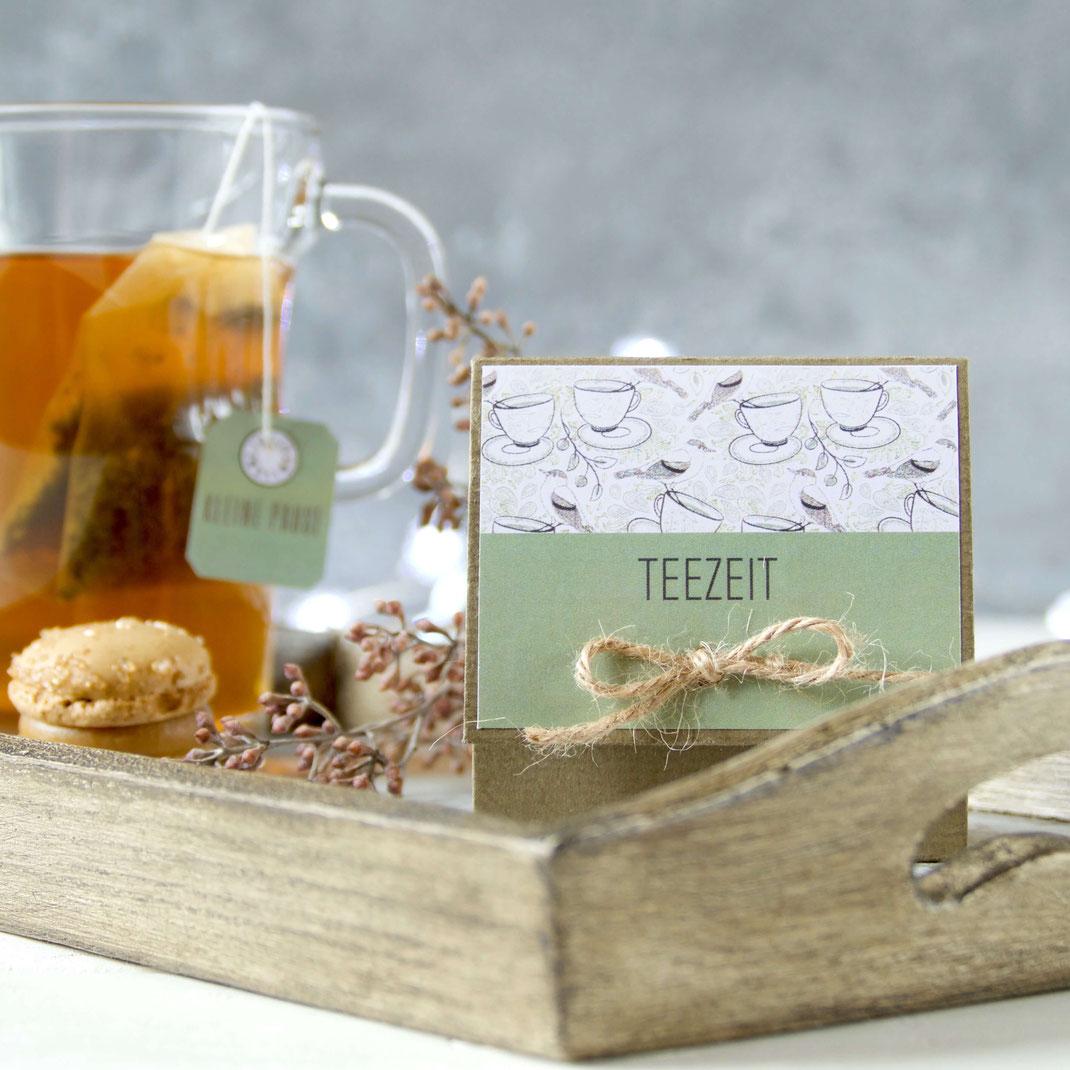 Teebeutel Verpackung selber machen