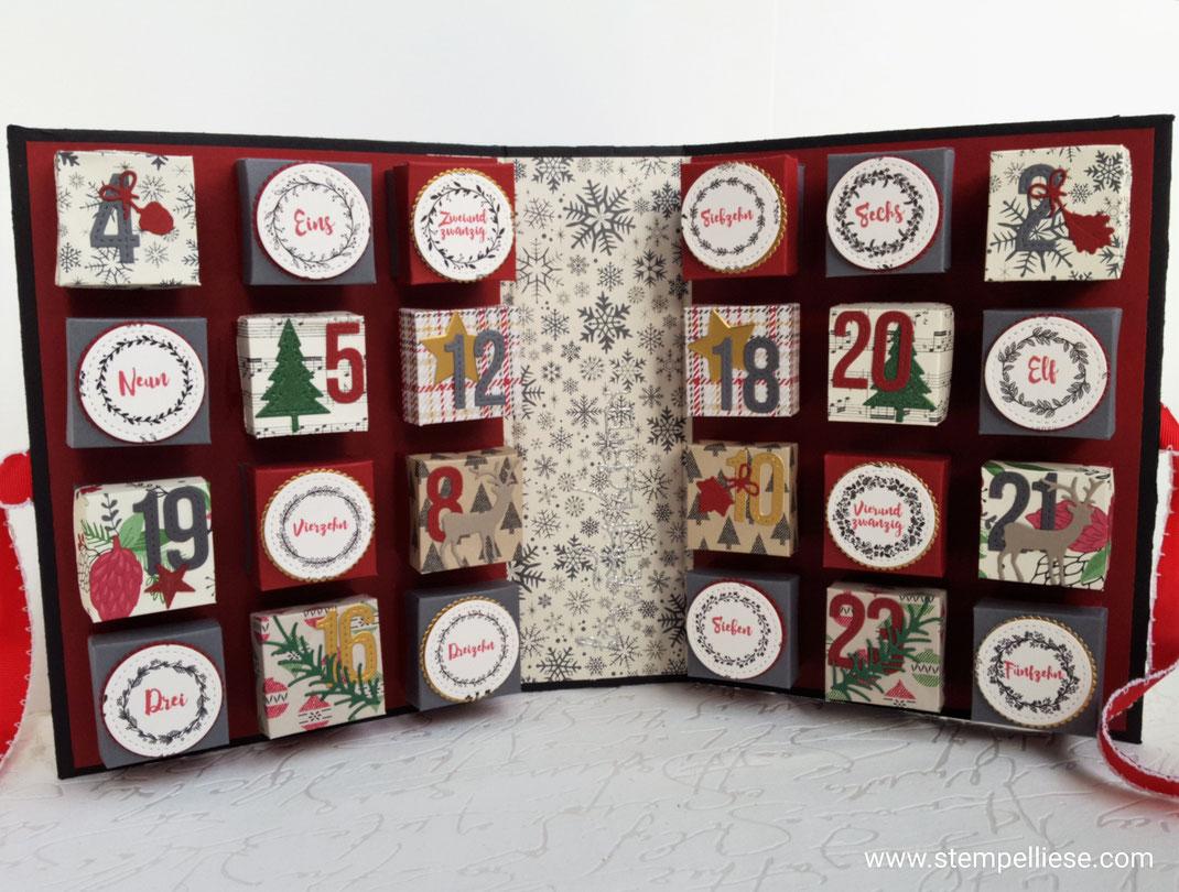 #Adventskalender #Kalenderbuchzumselbermachen #DIYAdventskaldender #Stampinup #stempelliese.com