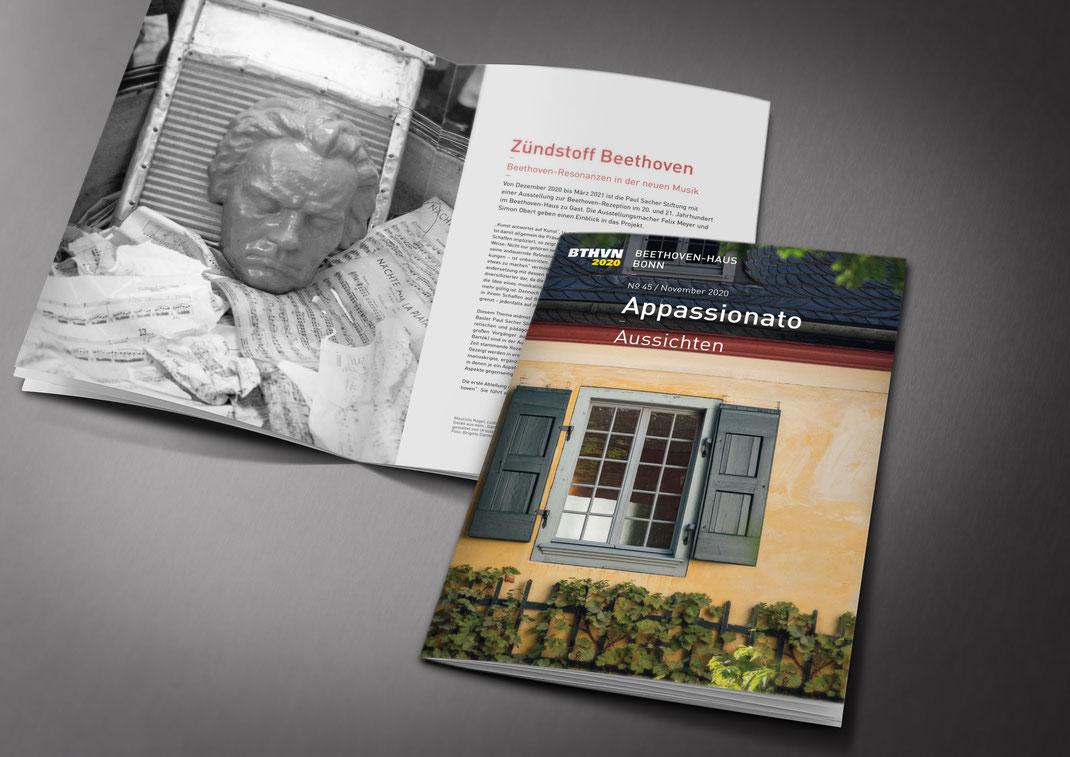 Magazin der Mitglieder des Vereins der Freunde und Förderer des Beethoven-Haus Bonn, Appassionato N° 45, erschienen im Dezember 2020