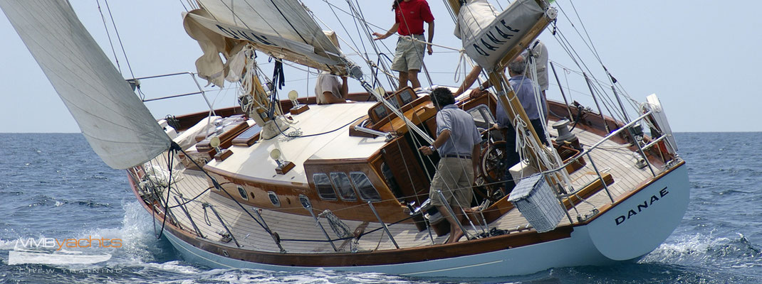 VMByachts crew with «Danae» classic sailing yacht