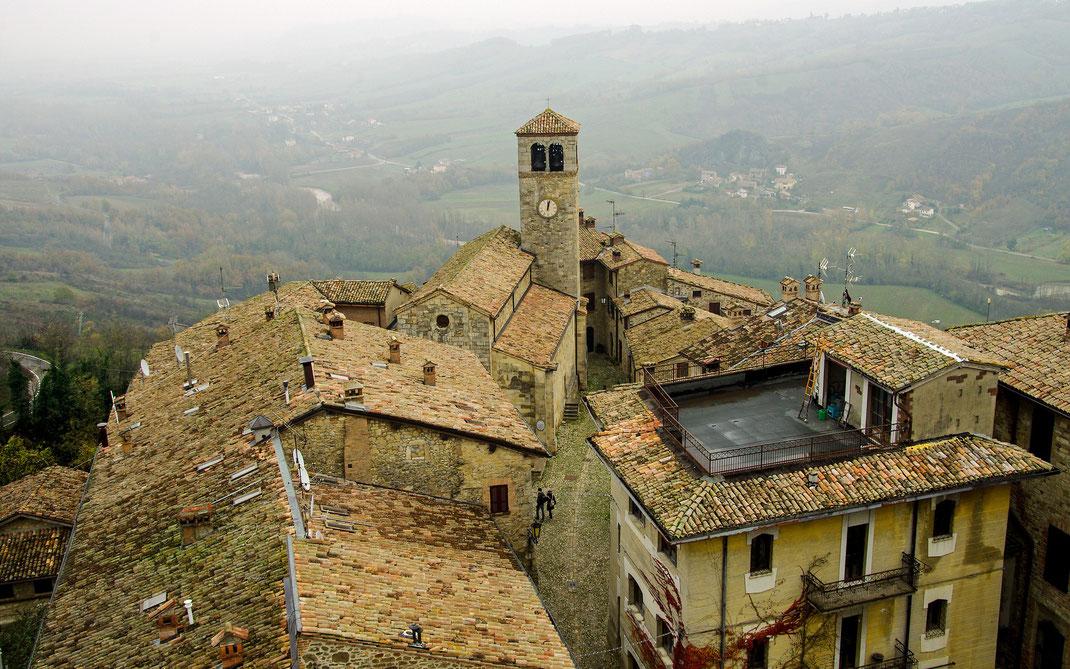 In der kleinen Altstadt von Vigoleno in der Emilia-Romagna wohnen gerade noch sieben Menschen