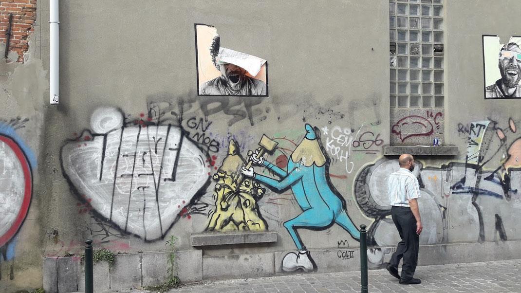Streetart ist eine wichtige zeitgenössische Kunstform