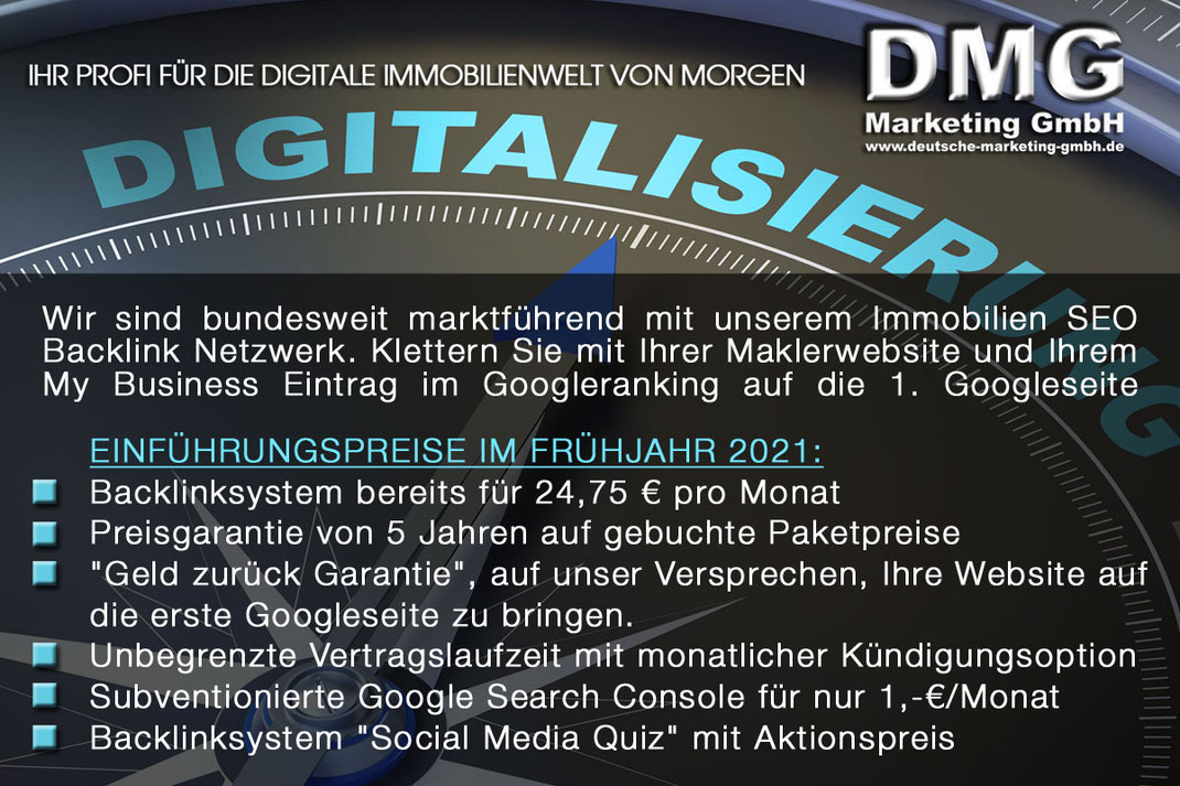 BACKLINK NETZWERK SEO IMMOBILIEN MARKETING IMMOBILIENMAKLER