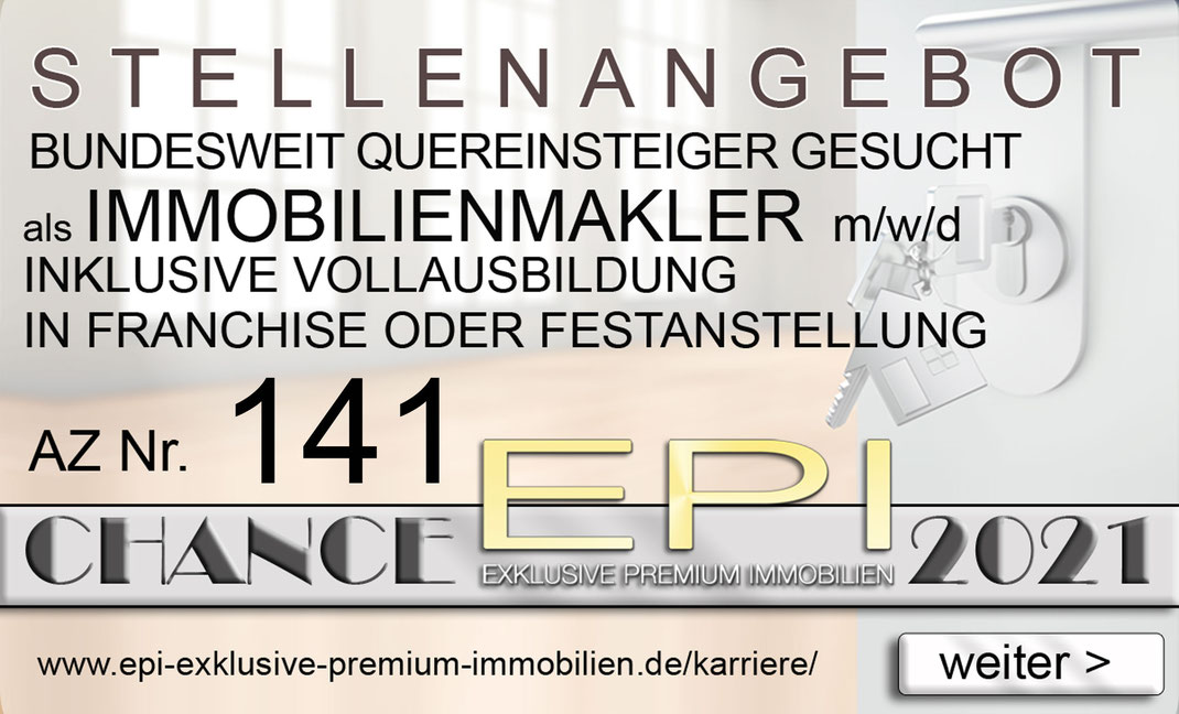 141 STELLENANGEBOTE BAMBERG QUEREINSTEIGER IMMOBILIENMAKLER JOBANGEBOTE IMMOBILIEN MAKLER FRANCHISE FESTANSTELLUNG VOLLZEIT