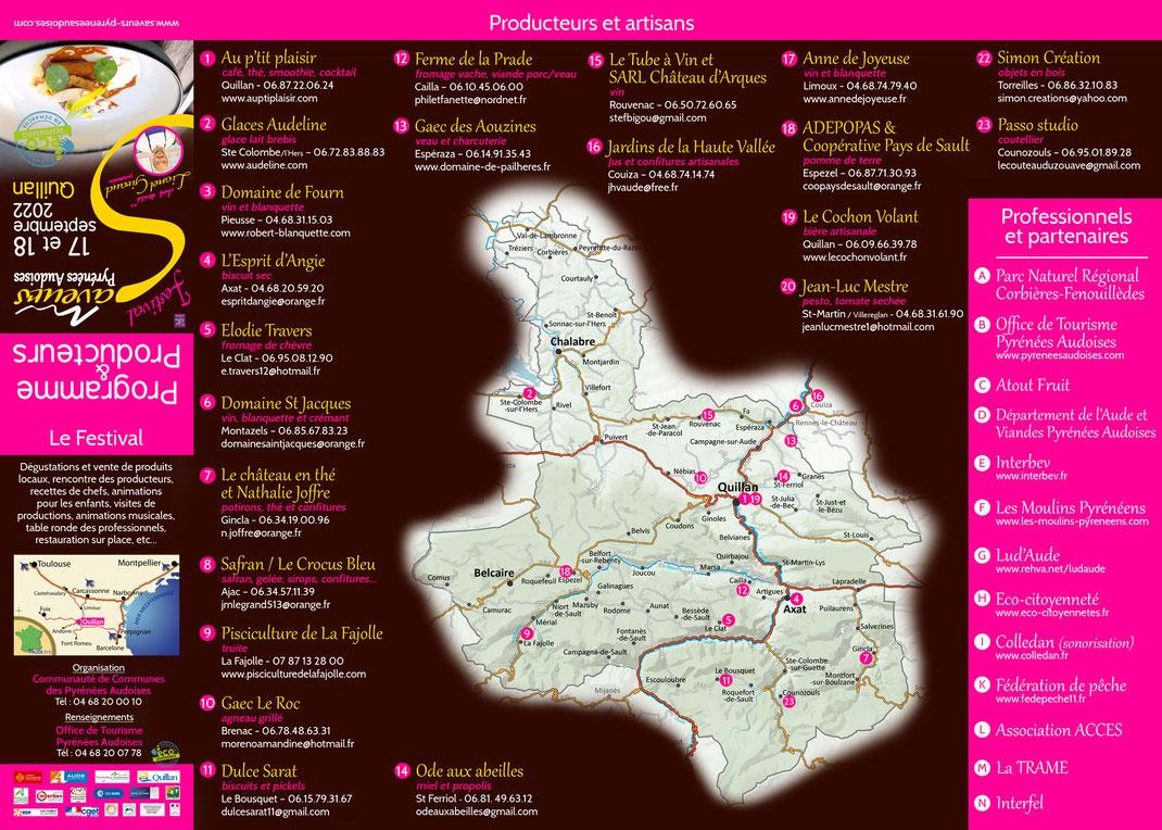 Producteurs Festival des Saveurs Pyrénées Audoises