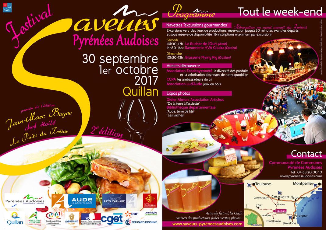 Programme Festival Saveurs Pyrénées Audoises 2017