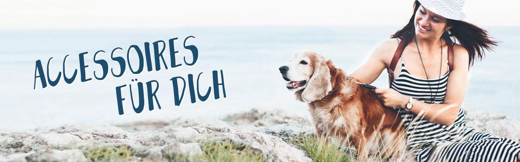 Hundestrand besonderes für vier Pfoten Accessoires Armband Notizbuch Stofftasche Strand