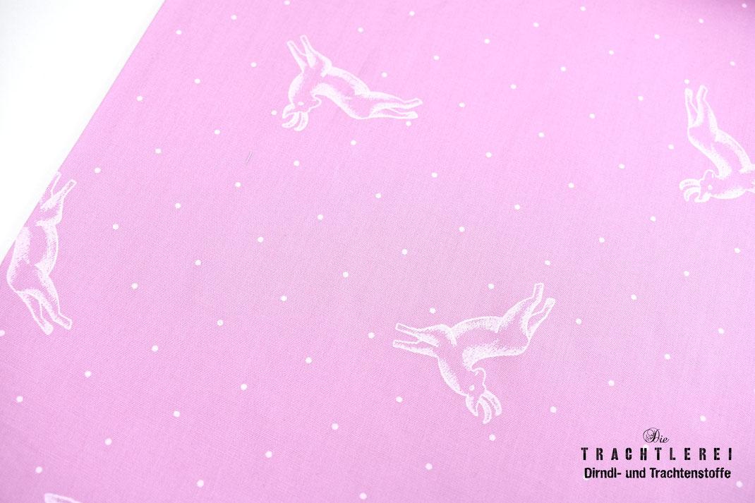 Trachtenstoff rosa Hirsch