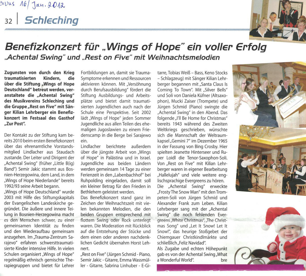 wings of hope benefizkonzert
