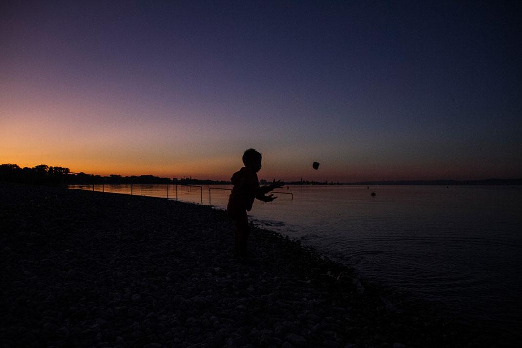 Sonnenuntergang, Bodensee, Abendstimmung, blaue Stunde, goldene Stunde, Seeufer, nurdeinfotokurs, Winterthur, Schaffhausen, Andelfingen