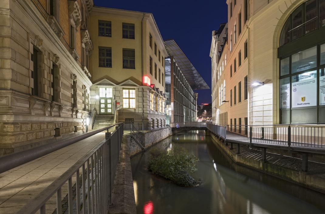 Kanal an der Otto Schill Straße - Leipzig - November 2017