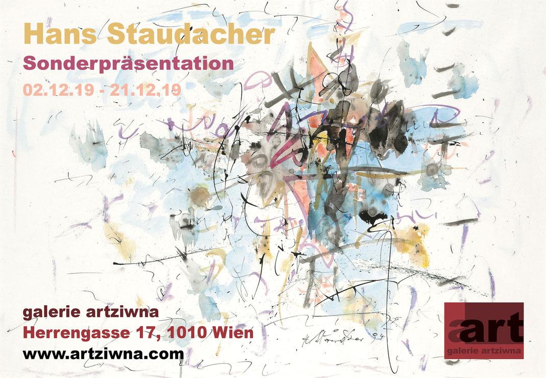 Ausstellung, Hans Staudacher, Wien, galerie artziwna