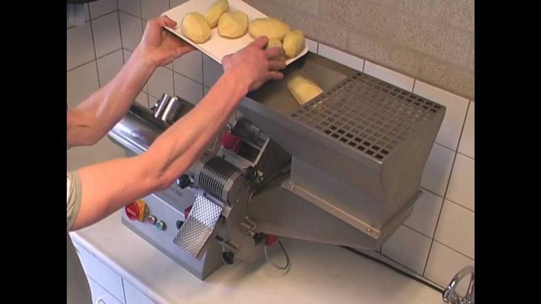 Machine de d coupe industrielle pour frites ligne - Couper des videos en ligne ...