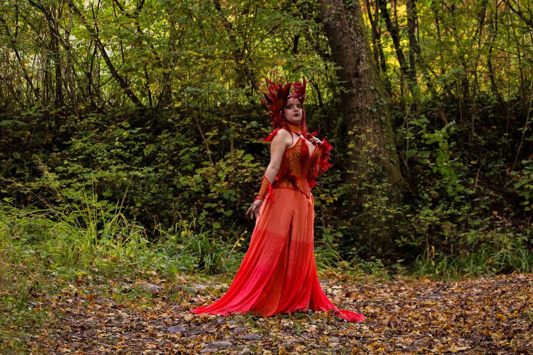 costume corset phoenix médieval fantastique