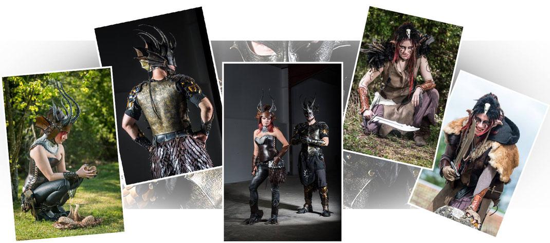 costume dragon cuir médiéval fantastique