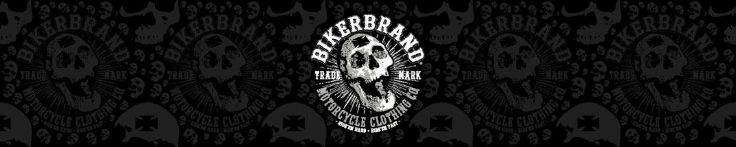Bikerbrand screaming skull pattern