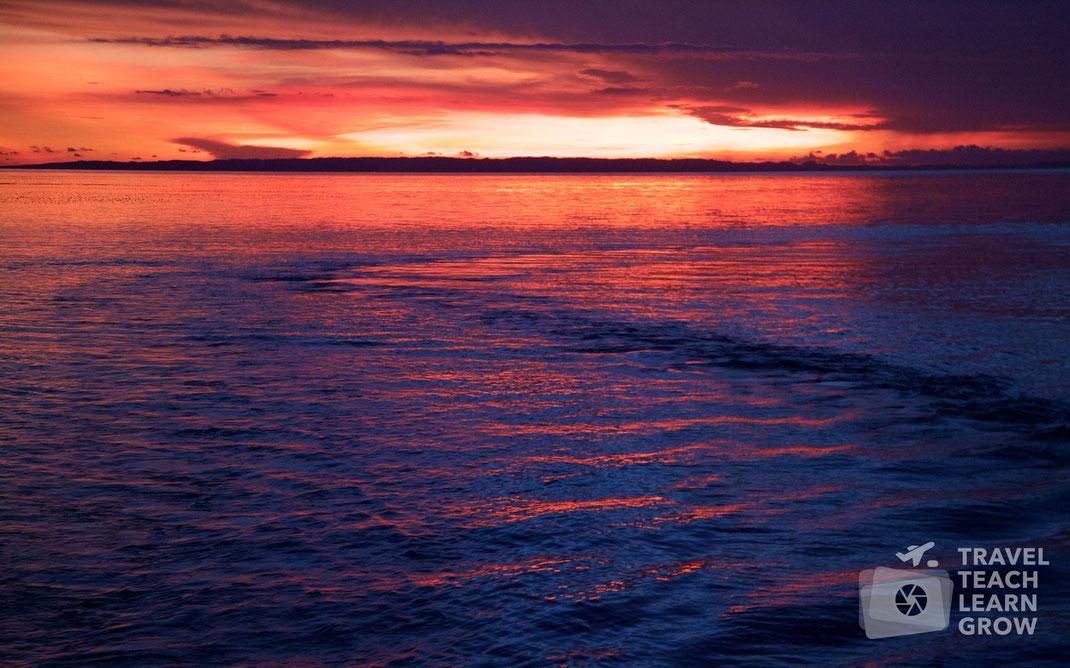 Caluya Island Departure Sunset   Antique