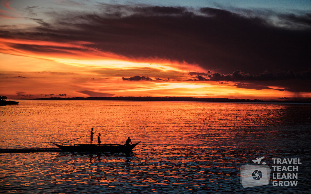 Caluya Island Sunset   Antique