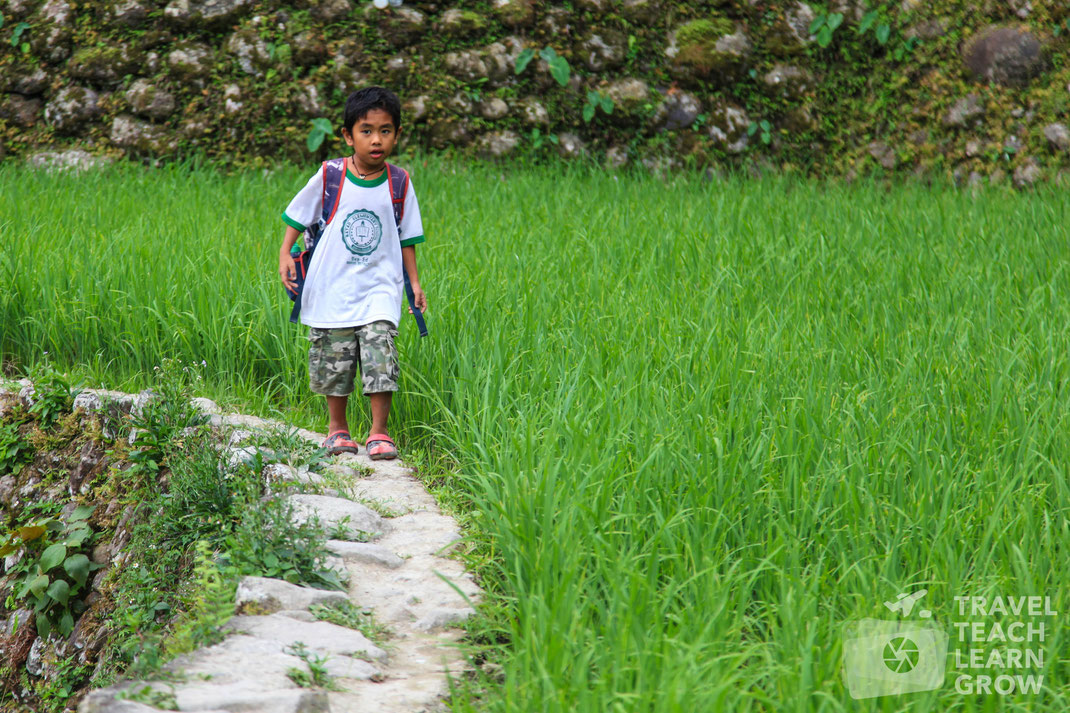 Walking Home from School | Batad