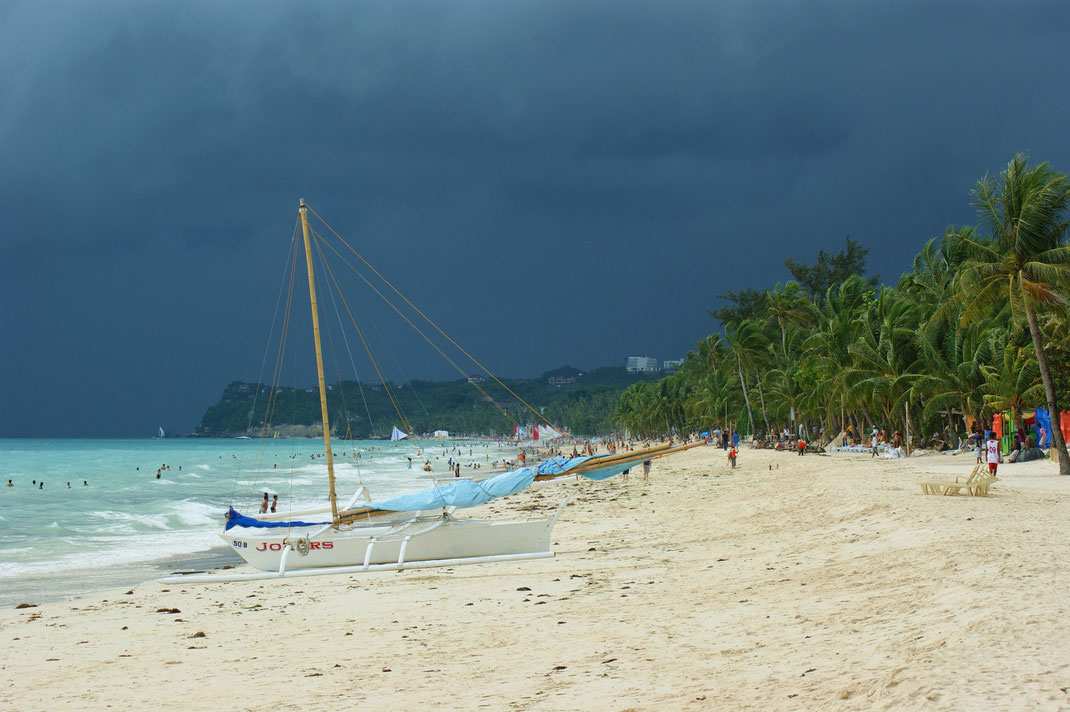 A Storm Approaches Boracay's White Beach | Aklan