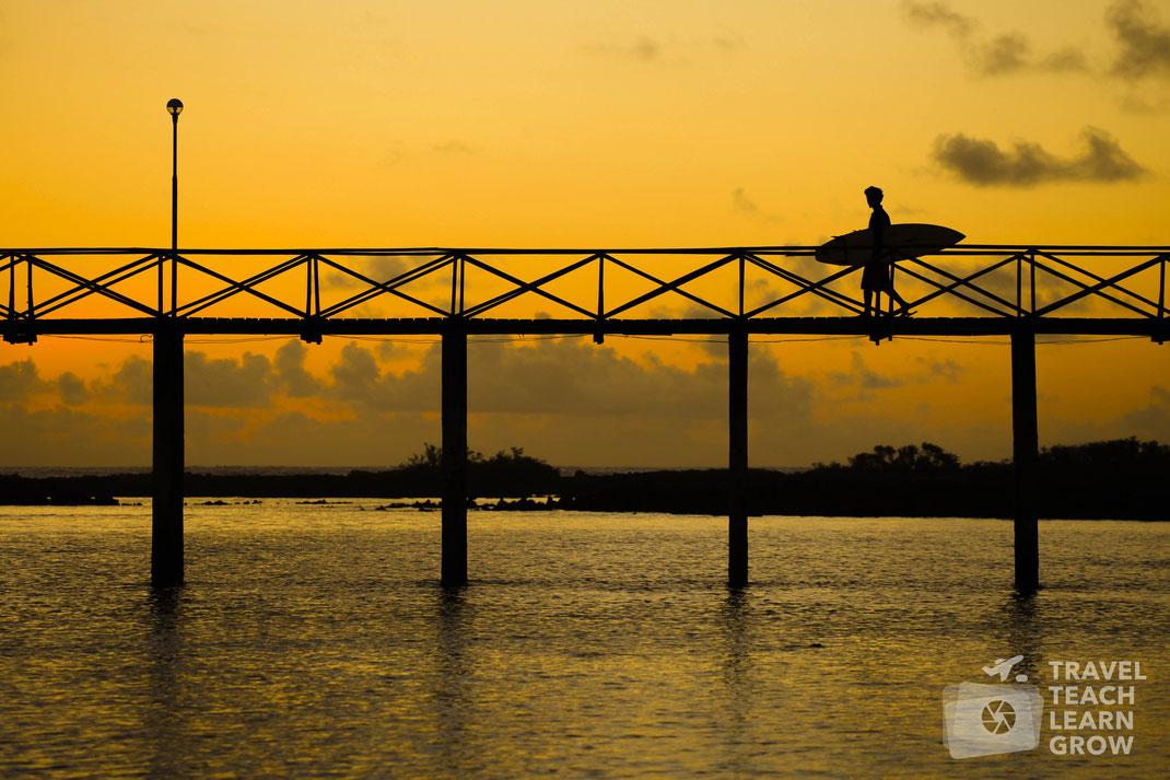 Sunrise Surfer Silhouette | Siargao Island