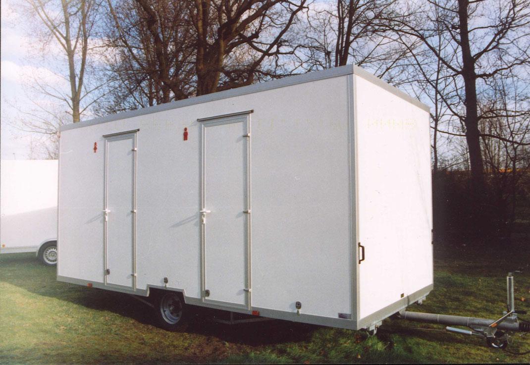 Toilettenwagen, WC-Mobil, Industrieboden, Damen Herren Sanitäranlagen