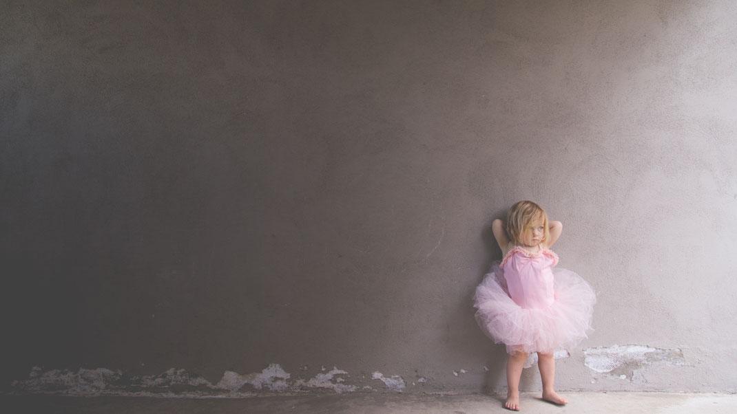 Tutu rose fille danseuse étoile coiffure visage