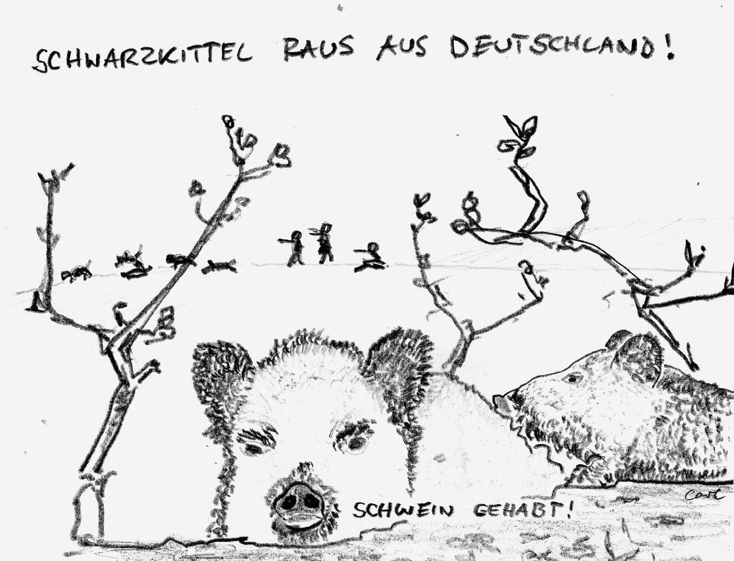 Schweinepest kommt aus dem Osten: Schwarzkittel abknallen!