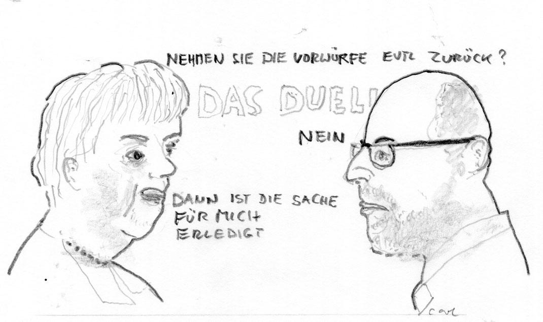 Wahlkampf-Duell Merkel/Schulz 3. Sept. 17